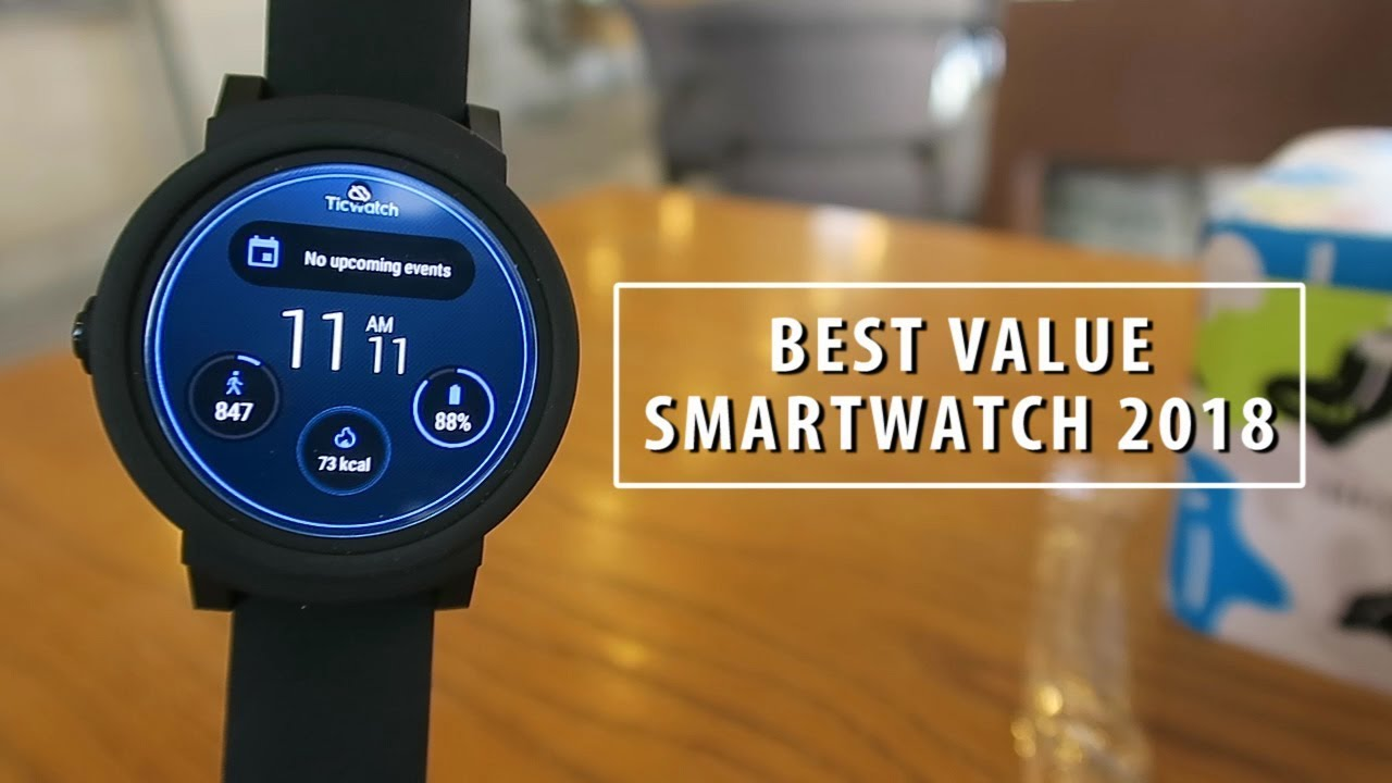 best value smartwatch 2018 mobvoi ticwatch e review youtube. Black Bedroom Furniture Sets. Home Design Ideas