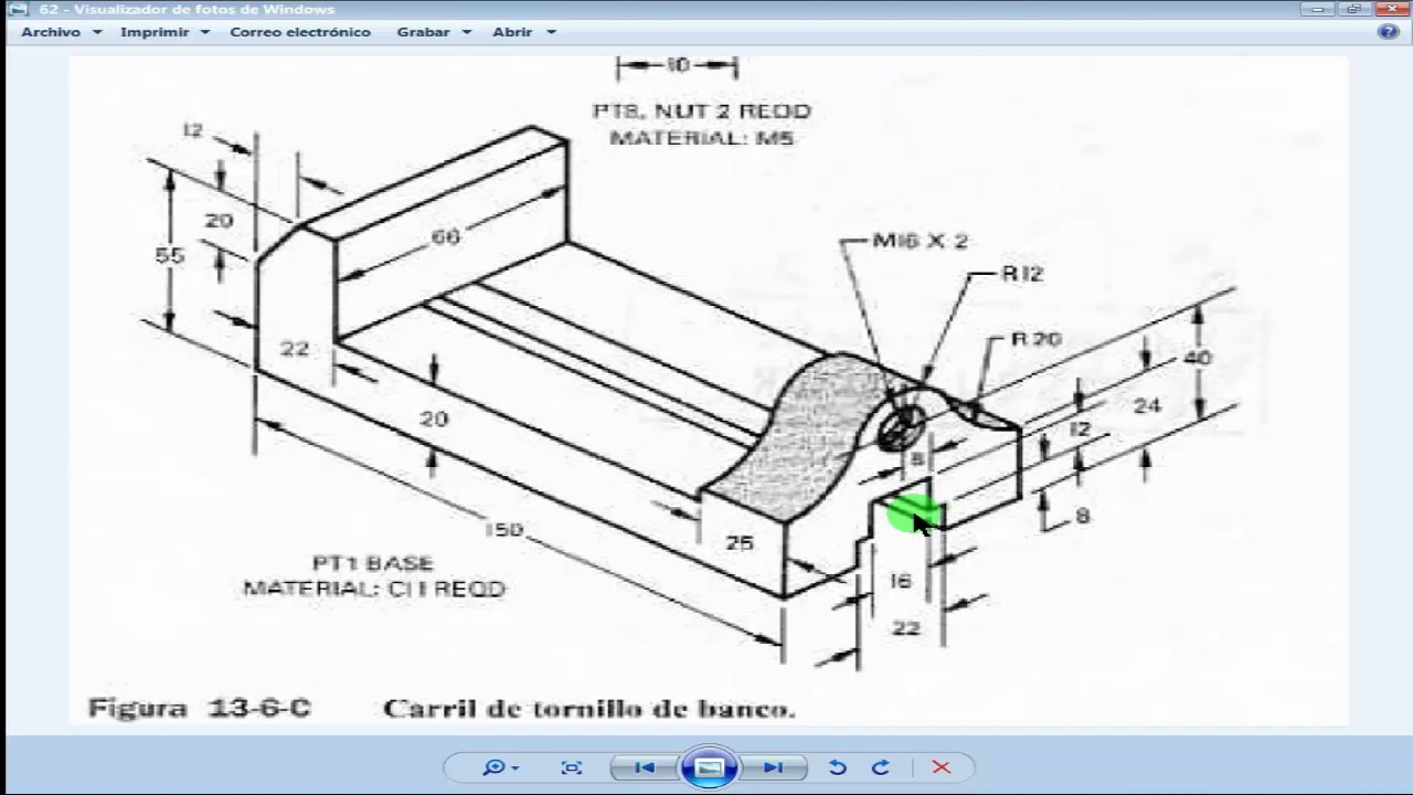 Carril de tornillo de banco 3d en autocad youtube - Tornillo de banco ...