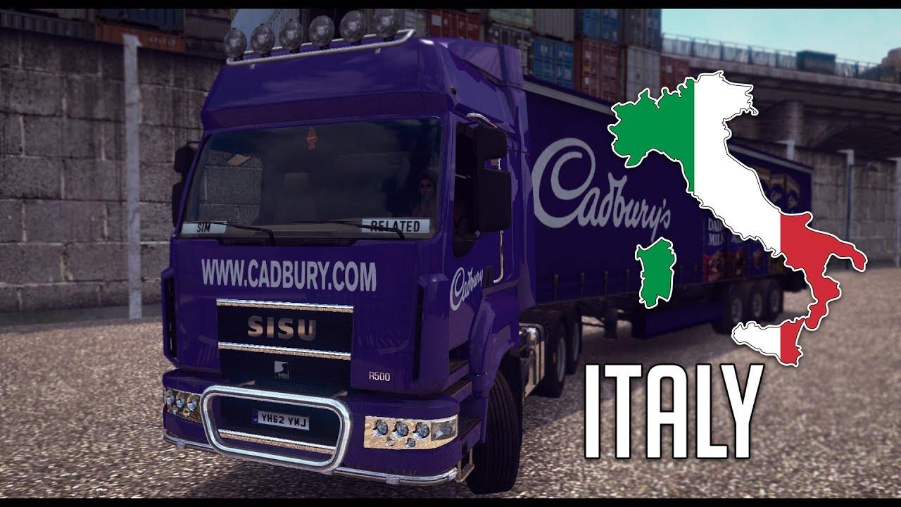 ETS 2 127 Italy Map 20 SISU R500 Roma Cagliari YouTube