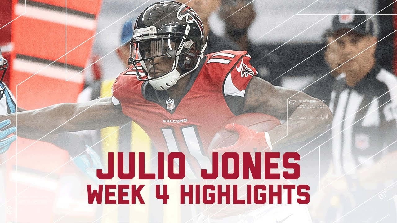 Julio Jones Career High 300 Yard Game Panthers Vs Falcons Nfl Week 4 Player Highlights Youtube