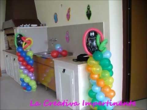 per le Feste - art balloon, allestimento, palloncini, tavola - YouTube