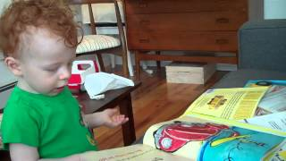 Finley reads Pete The Cat and His Four Groovy Buttons