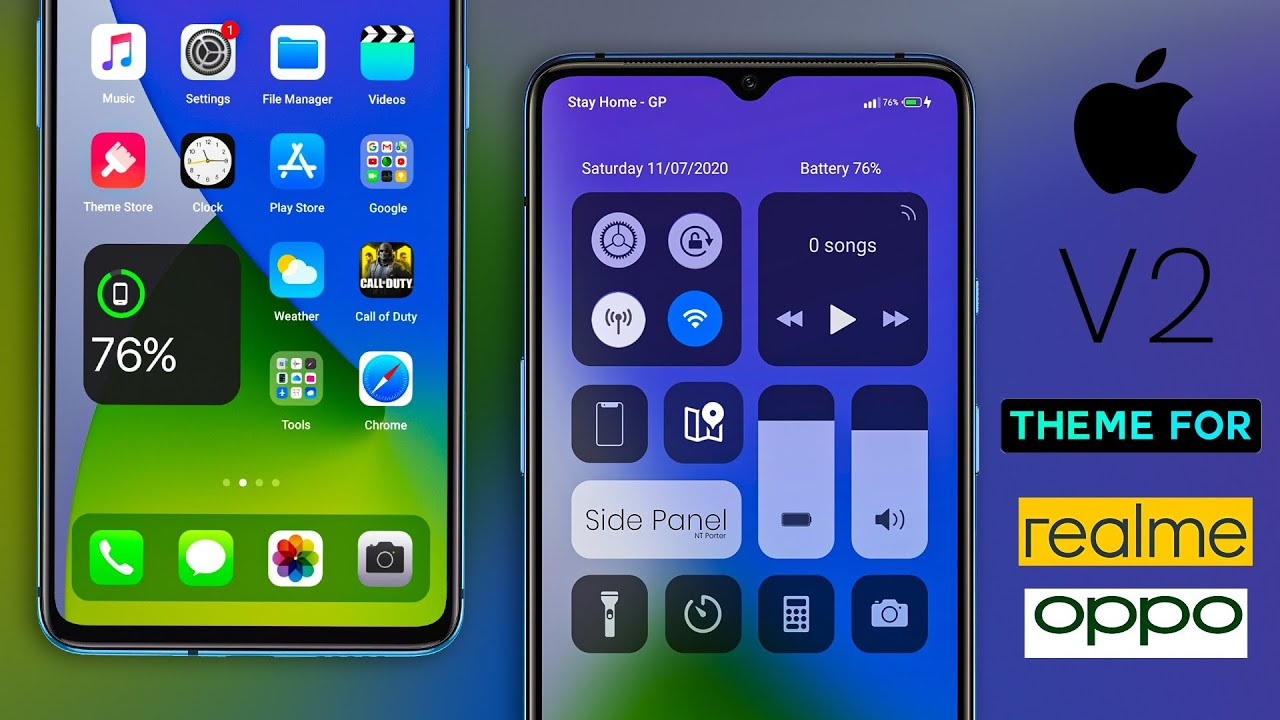 Install iOS 14 V2 theme on your Realme and Oppo device
