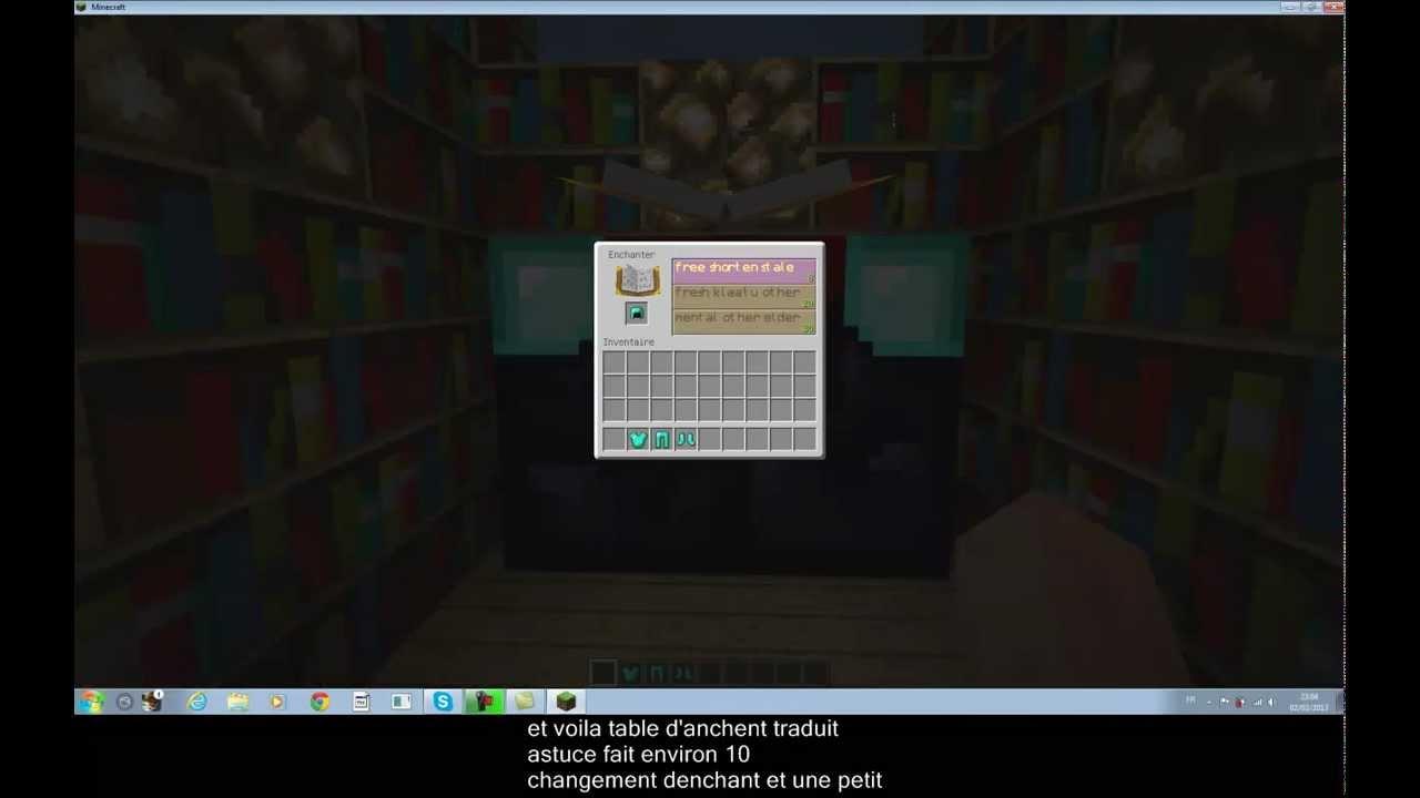 Minecraft traduire sa table d 39 enchantement youtube - Table d enchantement minecraft ...