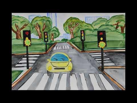 видео: Учим правила дорожного движения. Светофор.