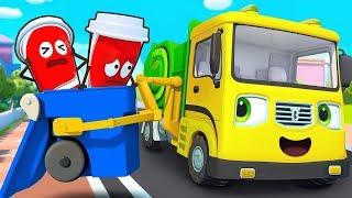 辛苦的垃圾車 | 最新交通工具兒歌童謠 | 大灰狼卡通動畫 | 寶寶巴士 | 奇奇 | BabyBus