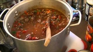 Hot and Spicy Chili with Kidney Beans and Pinto Beans