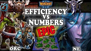 Grubby | Warcraft 3 TFT | 1.30 | ORC v NE on Echo Isles - Efficiency vs Numbers
