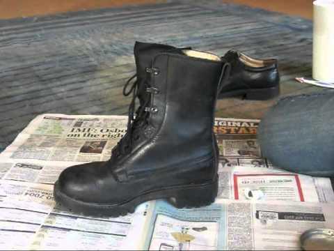 how to make cadet boots really shiny