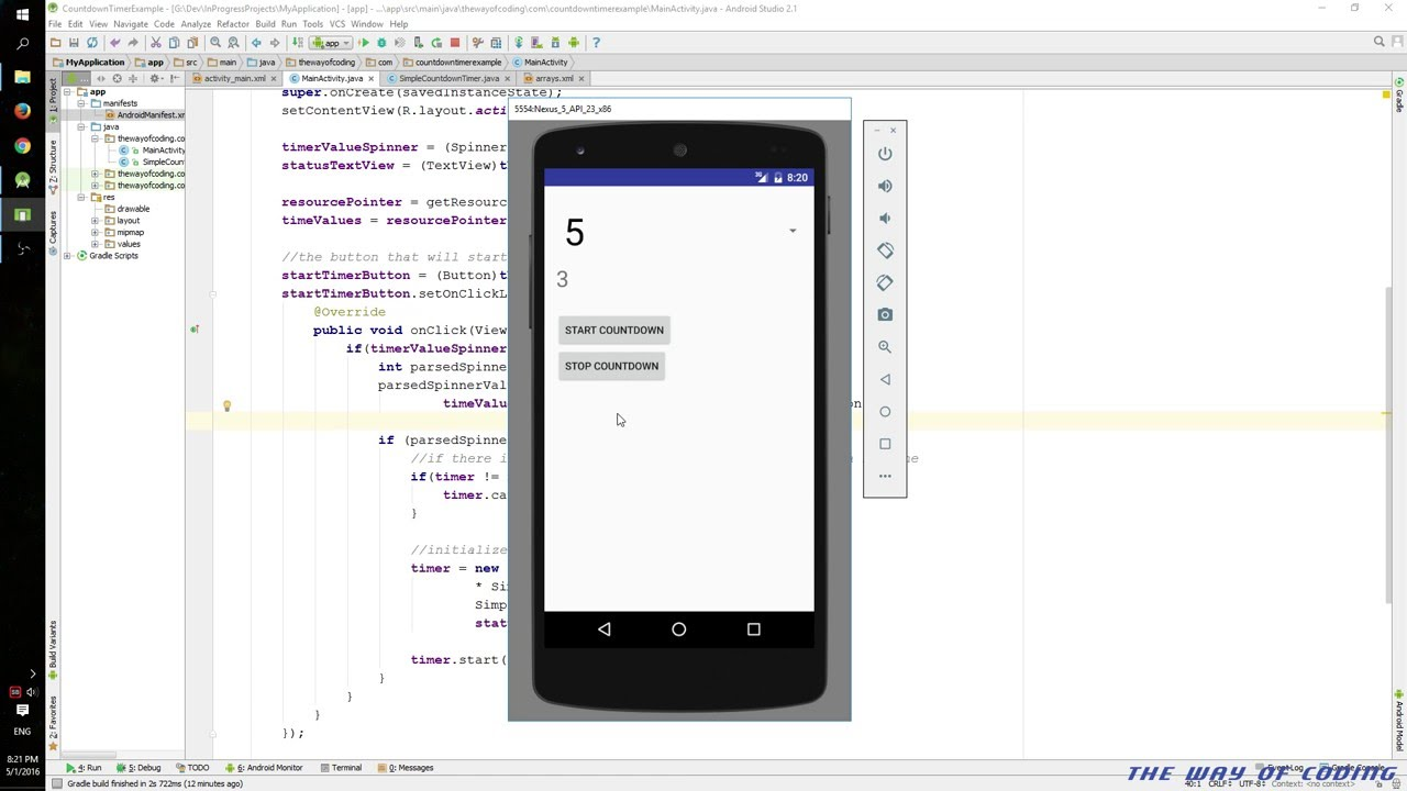 Android: Using the CountDownTimer class | The Way Of Coding