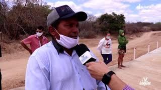 Após mais de 40 anos de promessas, povo de Alto Santo inaugura passagem molhada sobre o Riacho Tabor