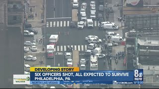 #PhiladelphiaShooting UPDATED: Standoff ongoing in Philadelphia, 6 police officers shot