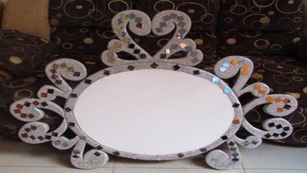 Como hacer un espejo en tecnopor para eventos muy f cil for Como decorar un espejo rectangular sin marco