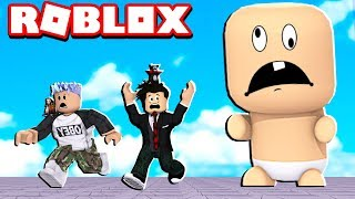 LOKIS HAS WON A GIANT AND CRAZY BABY | ROBLOX-Escape the Evil Baby Obby