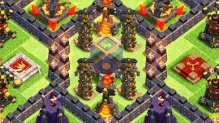 TH10 Dark Elixir Hoarding/Farming Base (After Update - 275 Walls) - Clash Of Clans