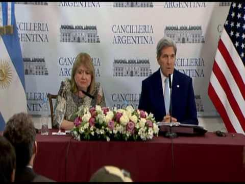Joint Press Availability with Argentine Foreign Minister Malcorra