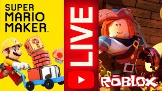LIVE-BUILDING IN MARIO MAKER AND DESTROYING IN ROBLOX (LIVE 52)