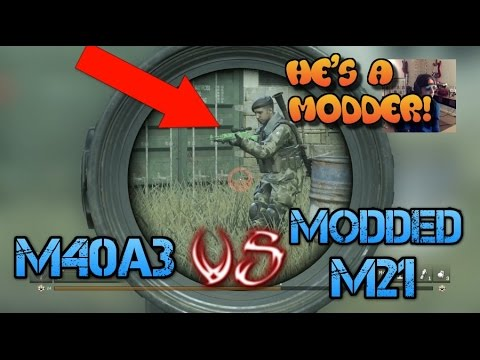1V1 - M40A3 VS *MODDED M21* CALL OF DUTY MODERN WARFARE REMASTERED CAGE MATCH GAMEPLAY!