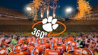 Clemson Football || Clemson 360° Team Entrance