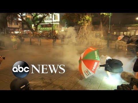 Increasingly violent protests erupt in Hong Kong | ABC News