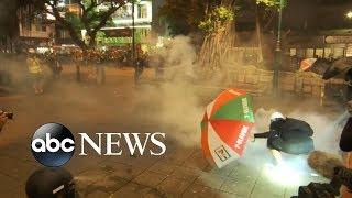 Increasingly violent protests erupt in Hong Kong | ABC News