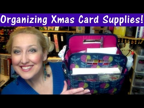 How I pack my Christmas Cardmaking Supplies to make 50 cards on the go!