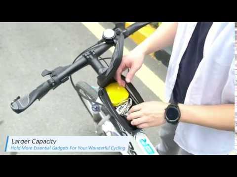 Turata Bike Frame Bag Waterproof Bike Pouch Bag Youtube