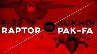 Pak FA vs F-22  Raptor in 3D