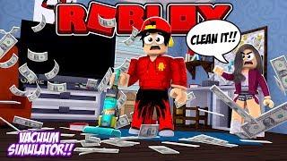 ROBLOX - MY MOM ALWAYS MAKES ME VACUUM MY ROOM!!!