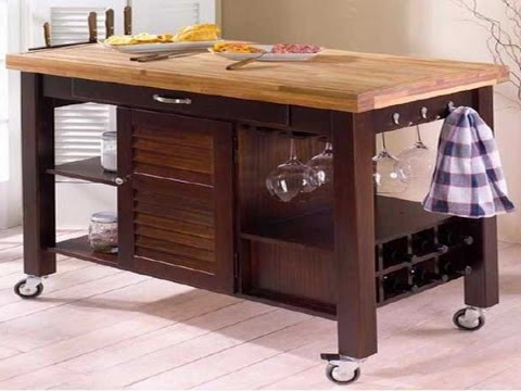 Movable Kitchen Islands - YouTube