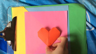 Origami heart for Mother's Day!