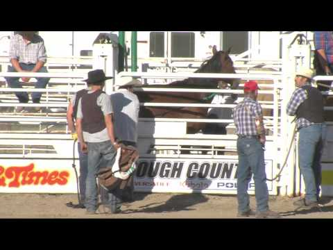 Contestant Kicked in the Head | Wild Horse Race 2014