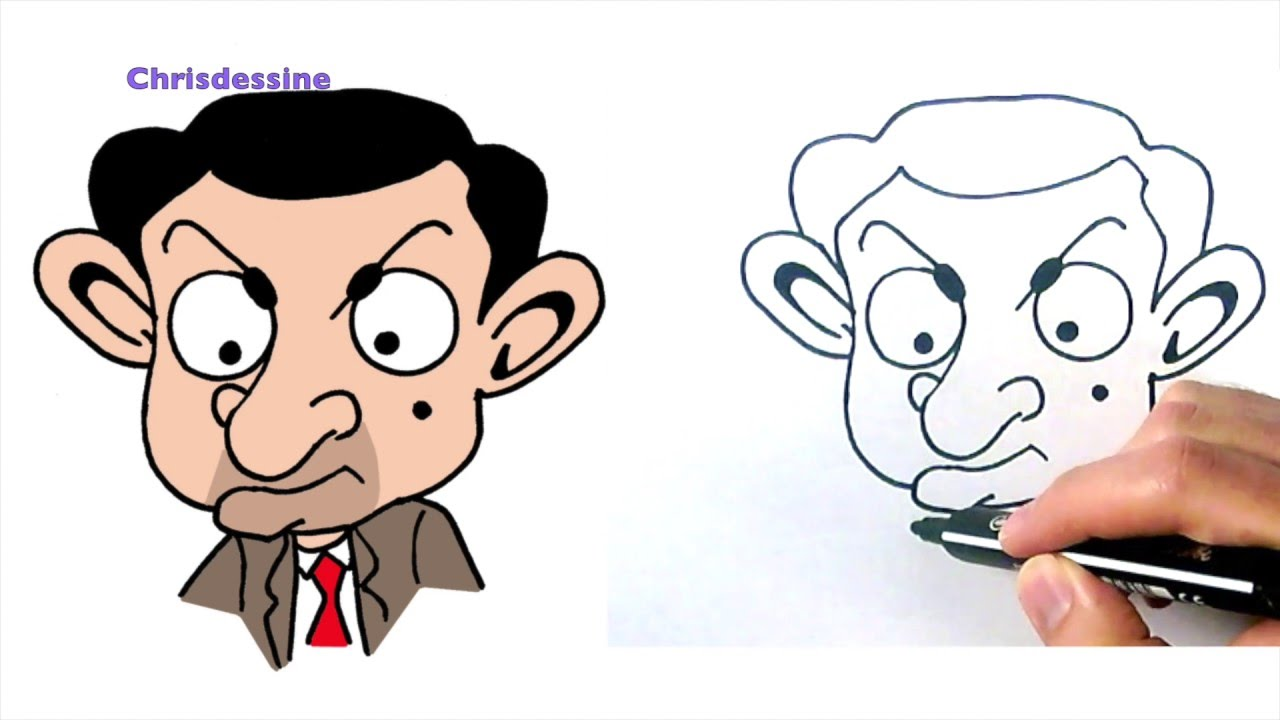 comment dessine mr bean chris dessine youtube. Black Bedroom Furniture Sets. Home Design Ideas