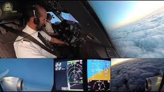 Boeing 787-9 ULTIMATE COCKPIT MOVIE Paris CDG to Jedda: Saudia Airlines EXCLUSIVE!!! [AirClips]