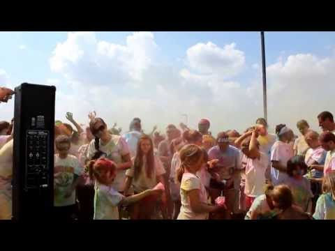 Rochester Minnesota 2013 COLORDASH Color Explosion! #DJ 5k