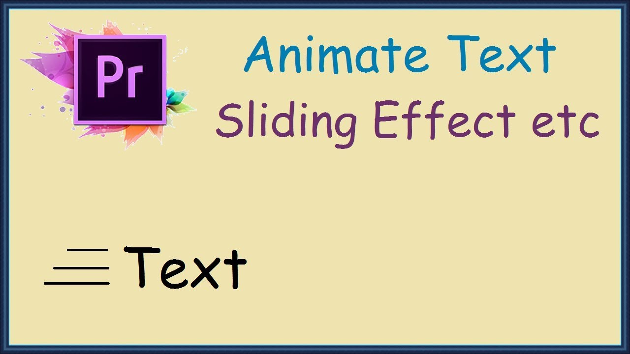 How to make text slide in adobe premiere pro youtube how to make text slide in adobe premiere pro ccuart Image collections