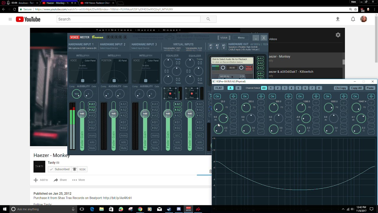 Free mic booster, compressor, and voice modulator (Voice Meeter)