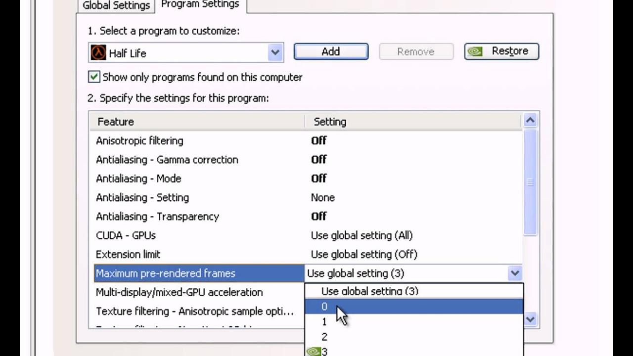 CS 1.6 - Nvidia Settings
