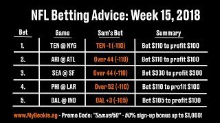 NFL Betting Advice: Week 15, 2018 - Against the Spread (ATS), Picks, Over/Under