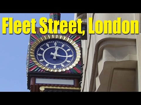 Video Diary 2016 07 London's Famous Fleet Street
