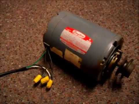 how to wire a dayton 115v 2 speed motor from high to low