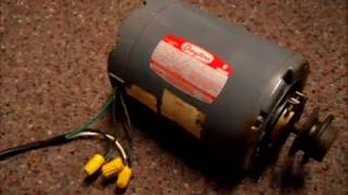How to wire a dayton 115v 2 speed motor from high to low - YouTubeYouTube