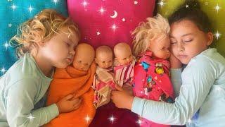 Are you sleeping? Canción infantil para dormir en ingles con Melania y Laneya. Pretend play.