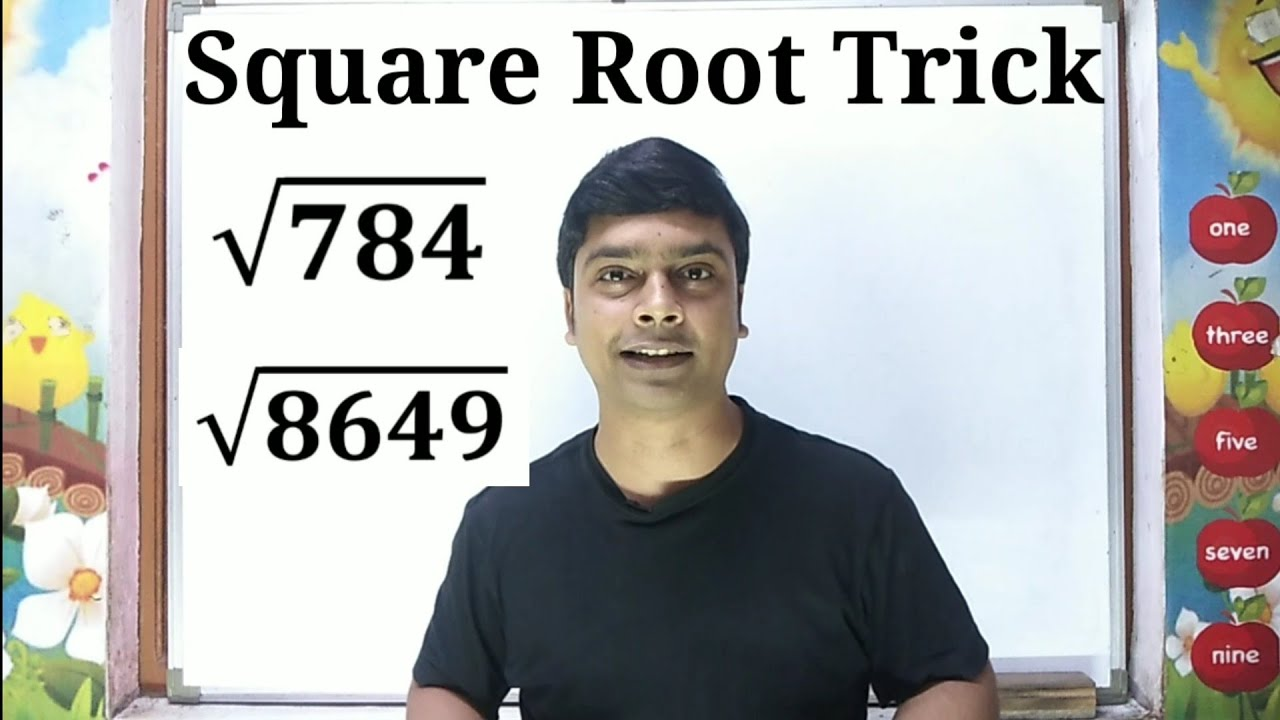 Square Root Trick   How to find square root easily   Maths Trick   imran sir maths