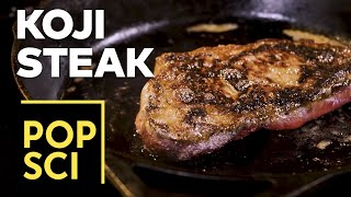 How to get a 45-day-aged steak in only 48 hours: Cooking with koji (and science!)
