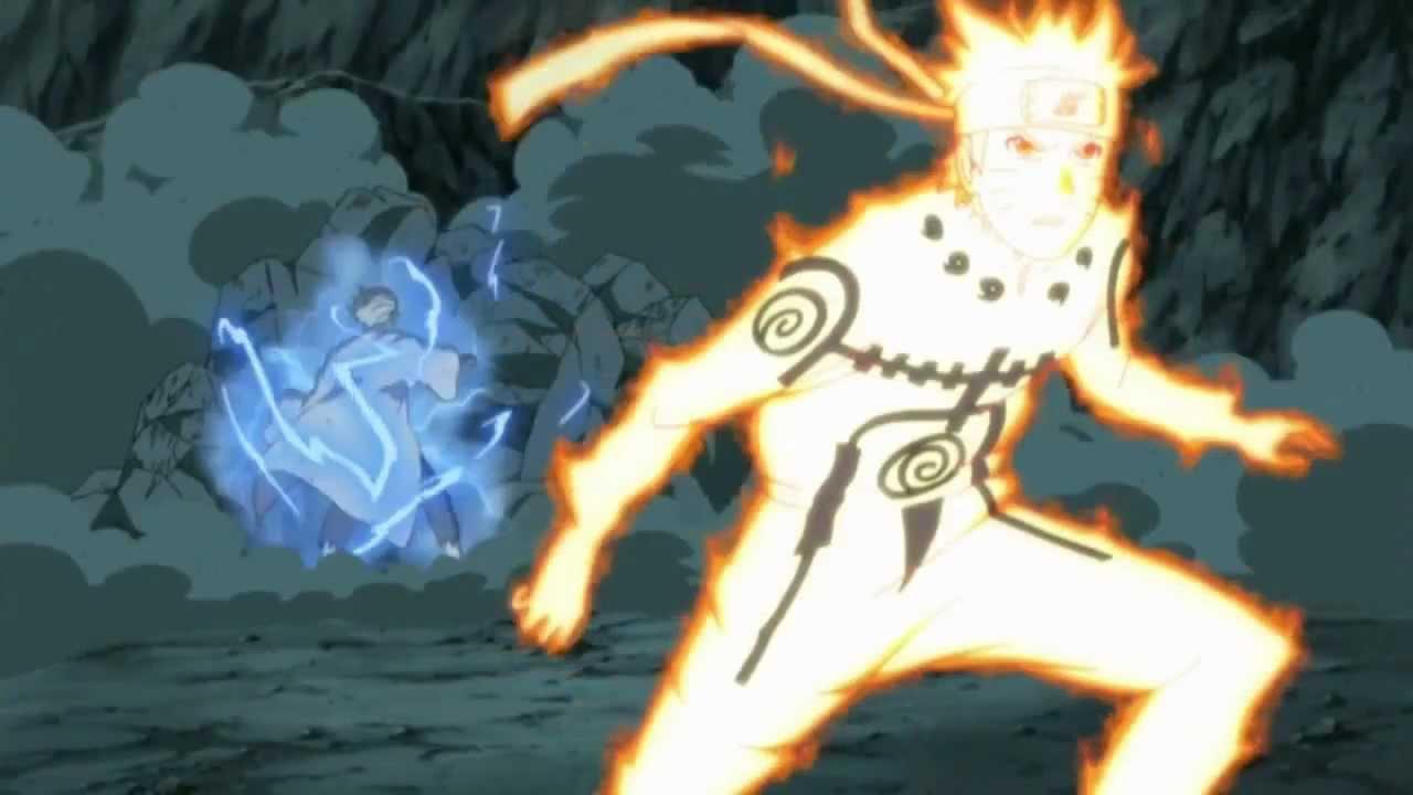 Naruto Shippuden - Naruto kyuubi mode Yellow Flash - YouTube