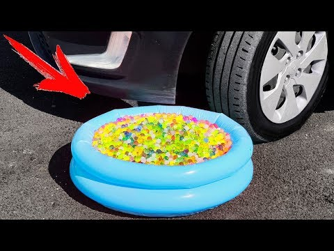 Experiment: Car Vs Balloons Pool