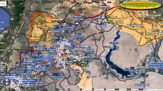 Обзор карты боевых действий в Сирии за 11 11 2015 год