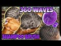Trying The Scalpmaster Shampoo Brush on 360 Waves