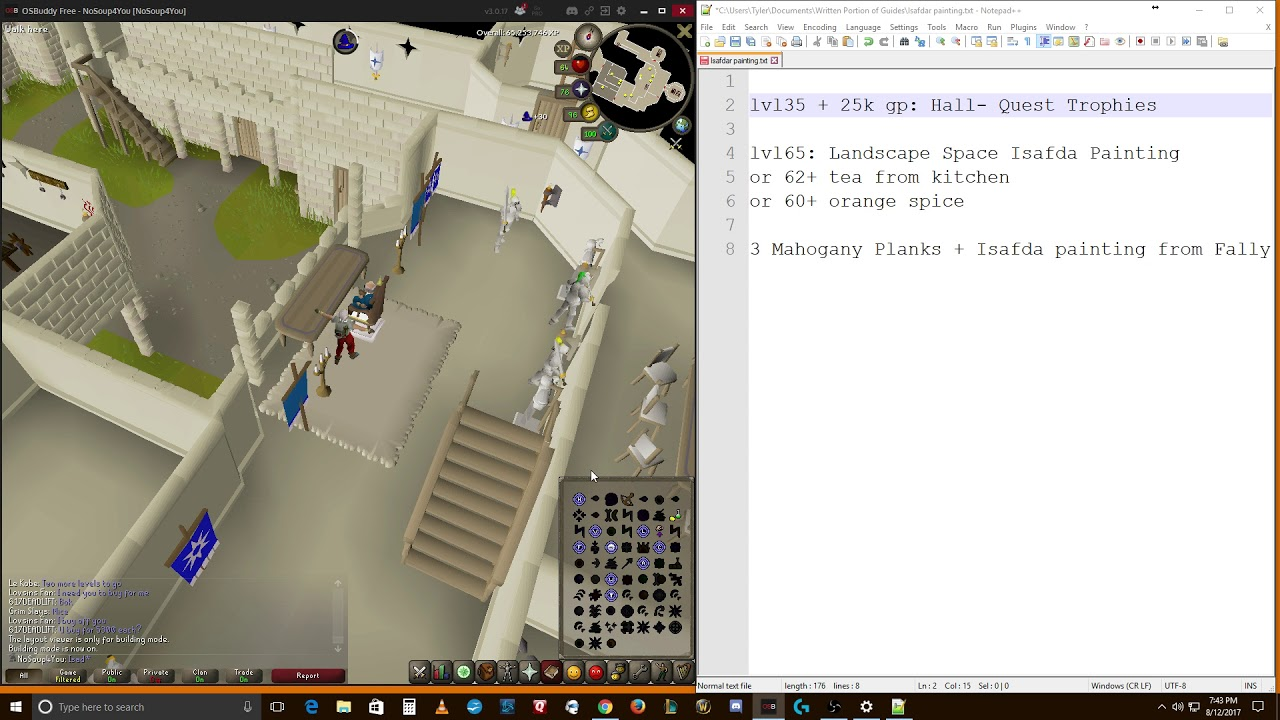 OSRS Ironman Guide to Build an Isafdar Painting in Your POH